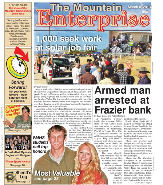 The Mountain Enterprise March 08, 2013 Edition