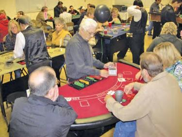 Gaming tables were a success as about 90 players enjoyed the Frazier Mountain High School Booster Club Casino night. The event is the largest fundraiser for the year to assist FMHS sports teams.