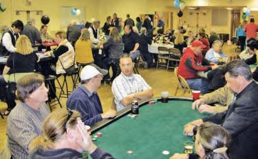 Gaming tables were a success as about 90 players enjoyed the Frazier Mountain High School Booster Club's Casino night. The event is the largest fundraiser for the year to assist FMHS sports teams.