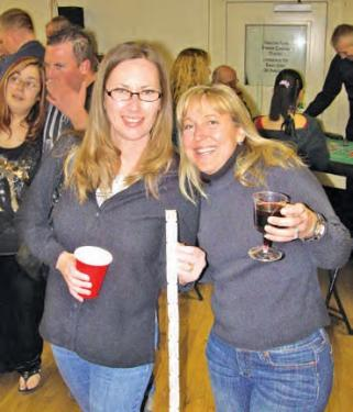 Raffle tickets were part of the fun. The names of raffle winners were read by Lisa Johnson, Booster Club president.