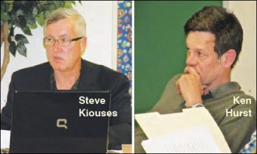 Trustee Stephan Kiouses said he wants to talk about &quotoperational ideas to stop living on the edge.&quot He is interested in talking about closing buildings. If he wants to serve as a trustee next year, he will have to stand for election in November. Ken Hurst has served for two terms and his seat is up for election this year as well. [Hedlund photo for The Mountain Enterprise]
