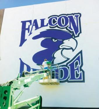 Principal Anthony Saba has been dedicated to building Falcon Pride at the high school this year.