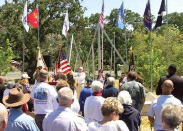 A crowd of 150 joined together at the Cody Prosser Veterans Memorial in Frazier Mountain Park for a heartfelt Memorial Day ceremony. Many stood to tell the tales of the soldiers they are remembering on this day of national thanks.