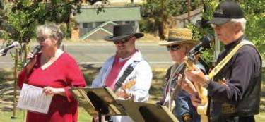 Sandy Browne and the band YesterYear played tributes to local military veterans.