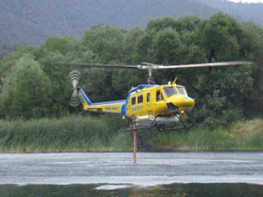 Brian Murray sent this shot of the Ventura County helicopter at Fern's Lake to our Breaking News from www.MountainEnterprise.com