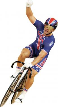 Lebec firefighter James &quotJimmie&quot Watkins at the London 2012 Olympics, making the best American showing in 12 years in the sprint cycling events.