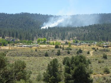 Fire Erupts in Upper Cuddy Valley (fire controlled)