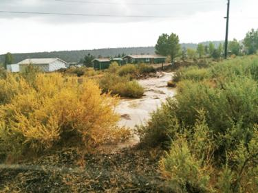 Monday's Flash Flood in Lockwood Valley
