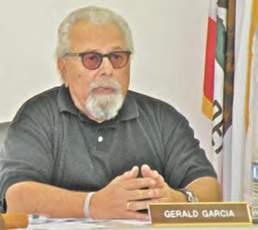 FPPUD Board President Gerald Garcia opened the meeting with a meditative prayer.[Hedlund photo]