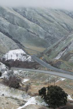 Chuck Noble of Lebec took this moody, misty photo of Grapevine Canyon above the I-5 freeway from Digier Canyon on February 20. [Chuck Noble photo]