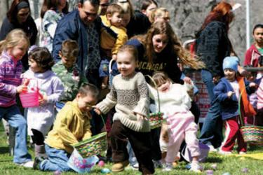 Easter egg hunts are March 30, 31