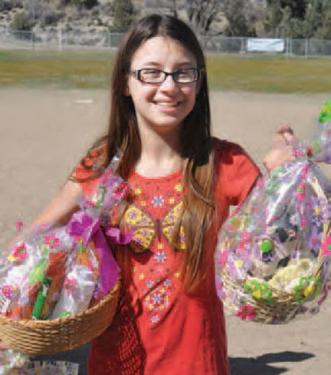 Kitty Raffle gift baskets were popular[Belinda Woerter photo]