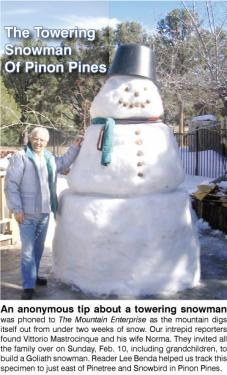 The Towering Snowman of Pinon Pines