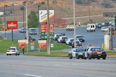 Los Angeles County Sheriff's Department, California Highway Patrol and Kern County Sheriff's Department briefly closed access to Flying J on Friday, May 30.