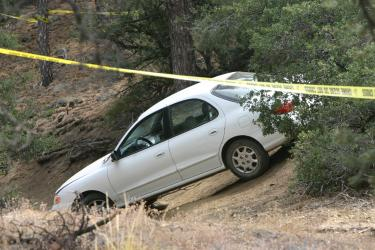 A late model Hyundai sedan where Ventura County Sheriff's officials say a sexual assault may have occurred. [Meyer photo]