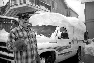 Chuck Woerner, digging his truck out of three feet of snow last year, says what works for Bakersfield doesn?t work for the mountain when it comes to assumptions about what is needed here to stay warm.