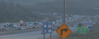 The northbound lanes of the Interstate-5 at the Grapevine were backed up from Gorman past the Fort Tejon exit ramp.