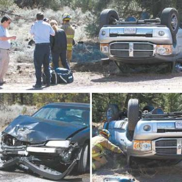 Crash at 'Y' Flattens Truck In Friday the 13th Accident