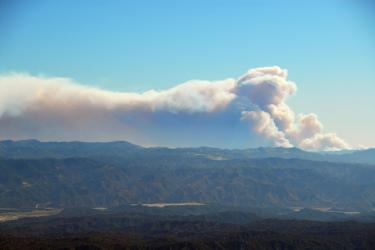 Jesusita (Santa Barbara) Fire Viewed from Cerro Noroeste