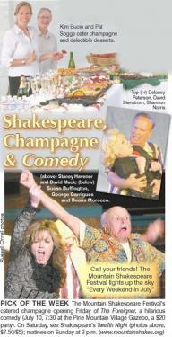 Shakespeare, Champagne & Comedy