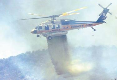 L.A. County sent massive air response to fight three simultaneous fires near Gorman.