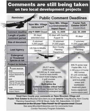Public Comment Deadlines for Two Developments in Lebec
