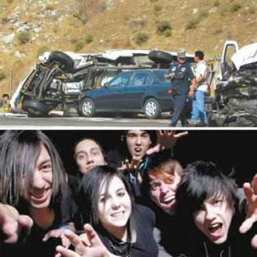 Five-Car Crash Closes Grapevine: Rock Band Hurt