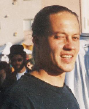 Jukka Hellsten in happier days at Venice Beach in spring of 1998. His body was found last week in Cuddy Creek.