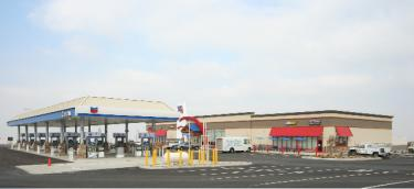 Photo of the new TA Travel Center, which was included with the press release.