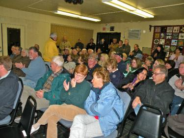 A crowd of 50-60 Pine Mountain residents showed skepticism about the need to