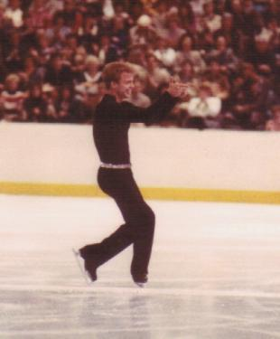 Cockerell on ice, during a competitive performance