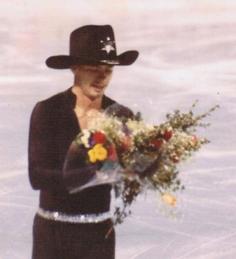 Cockerell on ice, after a competitive performance