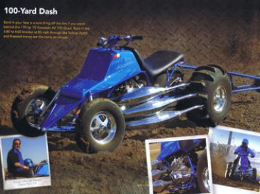 Clint Van Hooser's 1972 Kawasaki H2 750 Quad is featured in the 2010 Snap-on Tech Toys wall calendar.