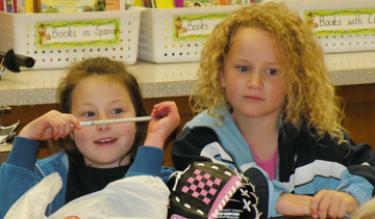 Listeners were enchanted by stories read at the Frazier Park School Book Fair March 4.