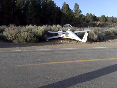 The plane ran into the brush near Boy Scout Camp Road.