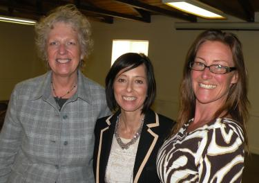 The WEV team: Marsha Bailey, Kathleen O'Donnell and Angel Cottrell