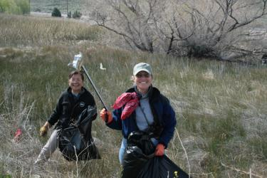 The TriCounty Watchdogs took a party of 18 to spend a day cleaning up around Quail Lake (off Highway 138).