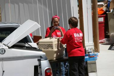 United Animal Nation assisted the HSUS on May 6.