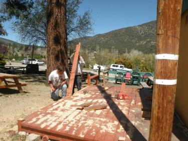 The memorial for Steve Pauley and the structures outside Bailey's business were removed with chainsaw and crowbar on May 10, 2010 amid protest by Bailey that the issue was under active litigation.