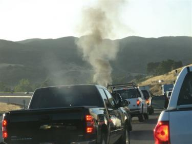 Rick Throckmorton of Pine Mountain was driving north from Castaic at 7:30 p.m. July 1 when traffic came to a halt on the I-5 and he saw smoke rising ahead.