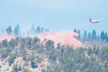Abbe Gore shot this plane laying fire retardant near Cold Springs Trail Sunday, Aug. 1 above Frazier Park, not far from the former Scott fire site.