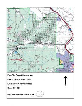This is the area designated for closure. There are still many areas in the Frazier Mountain, Mount Pinos area that are open to forest visitors. See the story at left for a hot link to a larger pdf copy of this map.