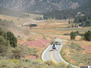Double Helicopter Medevac on Cuddy Valley Road