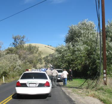 Kern County Sheriff's Deputies were on scene first thing in the morning. [Chuck Herbert photo]