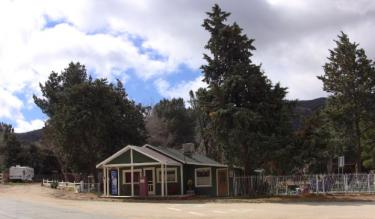 This is the property where Dennis Dobrovolny was last seen early on the morning after Super Bowl Sunday. If is a half mile up the the road from his caretaker quarters in an almond orchard, [Meyer photo/ The Mountain Enterprise]