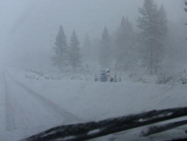 I-5 Open over the Grapevine; Mt. Pinos Snowplay Area Closed; Surface Roads Hazardous