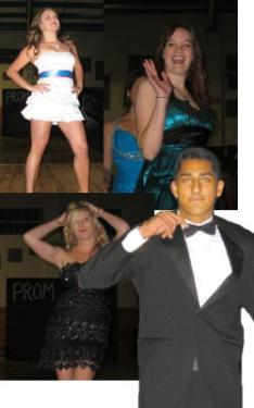 (Clockwise, from top) Ariel Hagelstein showed off her energetic style,  Katie Andrews waved to the crowd, Max Arteaga nailed the essence of elegance in his classic tuxedo while Ellie Jones demonstrated sparkling, fashionista moves.