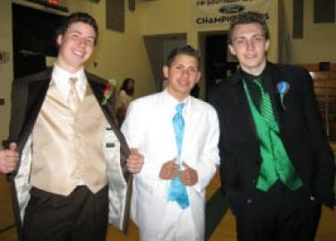 Braxton Jens, Alejandro Rodriguez and Joshua Smith were strutting in style at the prom fashion show.