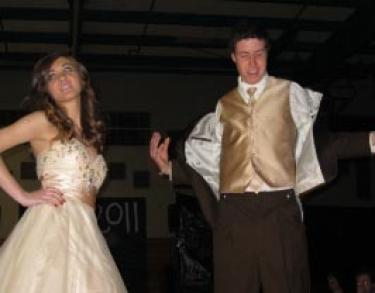 Danielle Culver and Braxton Jens showed off their satin and chiffon for the May 6, 2011 prom. Tickets are $75 and can be purchased next week at Frazier Mountain High School.