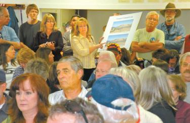 About 150 Western Antelope Valley residents came with questions to The Lake Community Center meeting with NextEra Energy Resources April 2.